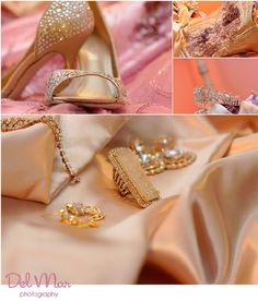 Quinceanera photo idea -- collage of accessories for the big day \\ Photo Credit: Del Mar Photography