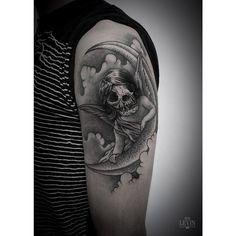 Tattoo by Ien Levin Body Mods, Blackwork, Dark Side, I Tattoo, Tattoo Artists, Instagram Posts, Tattoo Ideas, Ukraine, Piercing
