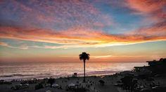 Moonlight Beach at sunset! Photo by Mary De Petrillo.