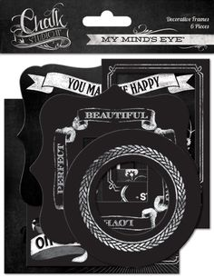 My Mind's Eye - Chalk Studio 2 Collection - Decorative Frames