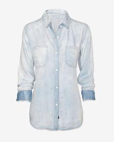 $138.0  Rails Exclusive Antique Wash Denim Shirt