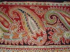 Antique Anglo Indian paisley embroidery border by abfabs10 on Etsy, £24.99