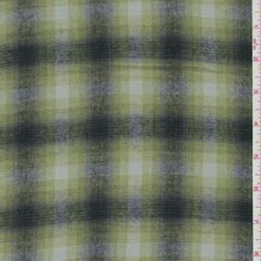 Grey/Green Plaid Flannel