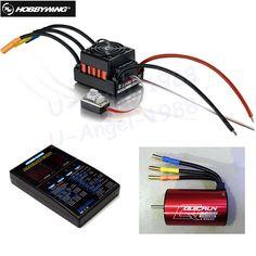 1set Original Hobbywing QuicRun WP-10BL60 Brushless Speed Controller 60A RC Car ESC + 3656 3800kv motor+ programe card #Affiliate