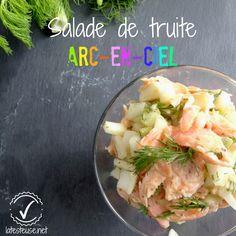 Salade froide de truite arc-en-ciel