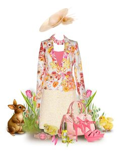 """""""Easter Sunday at Church"""" by franceseattle ❤ liked on Polyvore featuring Mixit, Equipment, Giambattista Valli, Salvatore Ferragamo, Philip Treacy, Marc by Marc Jacobs, Yves Saint Laurent, Alexis Bittar and Citizen"""