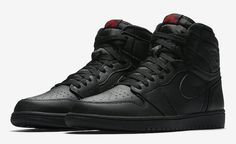 9b285c784fa389 Air Jordan 1 High Triple Black-3 Sneaker Bar