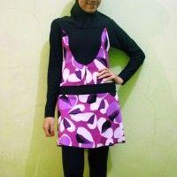 Baju Renang Muslimah Dewasa BRMD201409 Ungu Floral Print beli di ellima.web.id