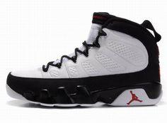 Black White Color Basketball Nike Shoes Mens - Jordan 9 Retros