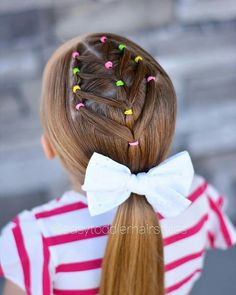 Little Girl Short Hairstyles, Young Girls Hairstyles, Baby Girl Hairstyles, Princess Hairstyles, Up Hairstyles, Girl Hair Dos, Twist Ponytail, Toddler Hair, Hair Today