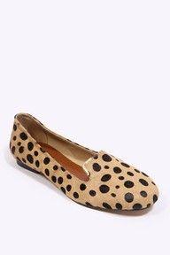 Deena & Ozzy Leopard Metal-Edged Shoes: £38.00  #Flats #Leopard #Deena_&_Ozzy