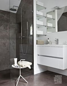 contrast bathroom, still love dark showers.