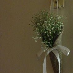 hessian flowers   Hessian Flowers on Pinterest   Hessian Wedding, Tree Decorations ...