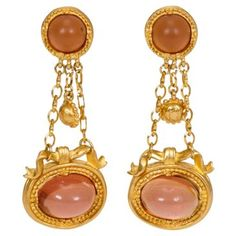 Check out this item at One Kings Lane! Lagerfeld Gripoix Gold Drop Earrings