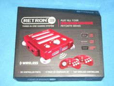 New Retron 3 Super Nintendo NES Sega Genesis Tri System Red 813048010999 | eBay
