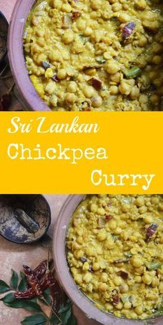 A creamy, fragrant and absolutely flavoursome vegan curry, the Sri Lankan Chickpea curry is amazing with rice, bread or even as a dip
