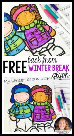 Looking for a fun activity when kids get back from winter break? Your students will love this interactive glyph! They answer questions about their time off from school and color accordingly! Free and fun!