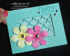 Thinking of Hawaii with this card made with the Beautiful Bunch Stamp Set and the Striped Scallop Thinlits Die - Stampin' Up!® - Stamp Your Art Out! www.stampyourartout.com