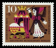 Berlin series for social welfare 1964, fairy tale of the brothers Grimm, Sleeping Beauty First Day of Issue: 6. Oktober 1964