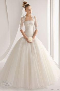 Vestido novia palabra de honor ROSA CLARA Palabra de www.palmiracompilar.com #homenajeatuangel