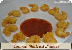Battered Coconut Prawns