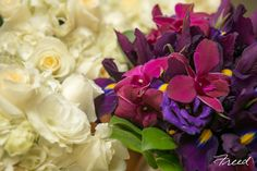 Wonderful contrast of bouquets!