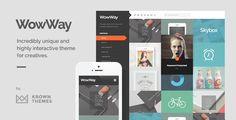 Buy WowWay - Interactive & Responsive Portfolio Theme by KrownThemes on ThemeForest. WowWay is an incredibly unique and highly interactive WordPress theme for creative portfolios. Based on a responsive . Web Themes, Website Themes, Themes Free, Responsive Grid, Creative Portfolio, Portfolio Layout, Blog Layout, Wordpress Template, Blogger Templates