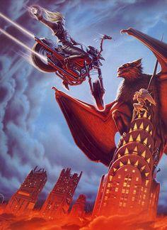 "Portada del disco ""Bat Out Of Hell II: Back Into Hell"" de ""Meat Loaf"", diseñada por  Michael Whelan..."