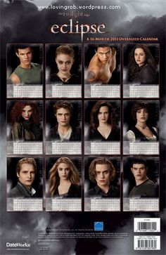 Jacob Black (Taylor Lautner), Jane Volturi (Dakota Fanning), Sam Uley (Chaske Spencer), Bella Swan (Kristen Stewart), Victoria (Bryce Dallas Howard), Edward Cullen (Robert Pattinson), Esme Cullen (Elizabeth Reaser), Alice Cullen (Ashley Greene), Carlisle