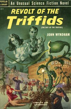 "American paperback version of John Wyndham's ""Day of the Triffids."""