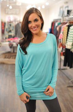 Dottie Couture Boutique - Dolman Tunic- Sky Blue, $26.00 (http://www.dottiecouture.com/dolman-tunic-sky-blue/)