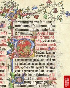 Detail of historiated initial.   Origin:England, S. E. (London?)
