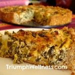 (Easy thick crust) Vegan Swiss Chard Quiche with Oat-Sesame Crust