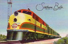 Kansas City Southern (KCS) Southern Belle passenger train ... Sweetheart of American Trains