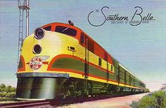 Kansas City Southern (KCS) Southern Belle passenger train ... Sweetheart of American Trains