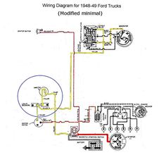 Need help setting up a temporary wiring harness for a 49 flathead - Ford Truck Enthusiasts Forums 1948 Ford Pickup, I Can Tell, Ford Trucks, Diagram, Wire, Crafts, Manualidades, Ford, Handmade Crafts