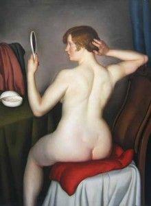 Leonid FRECHKOP (1897-1982) - Femme à la toilette, 1928, huile sur toile, 133 x 91,5 cm