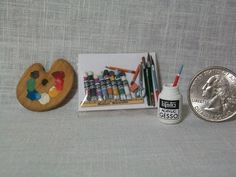 This is a package of 19 loose art supplies to place as you wish in your art studio...