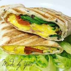Vaječná tortilla se šunkou a zeleninou - Fitness Strava Diet Recipes, Healthy Recipes, Healthy Food, Bon Appetit, Finger Foods, Vegan Vegetarian, Meal Prep, Food And Drink, Yummy Food