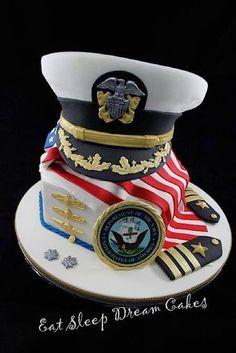 Military navy army marine inspired great cake idea