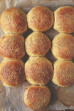 Fluffige Burgerbrötchen, Light Burger Buns