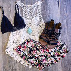 Soleil Crochet Top - White