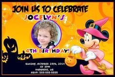 Disney Minnie Mouse Birthday Hallooween Party