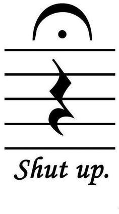 Shut Up sheet music symbols