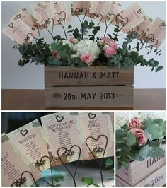 Rustic heart card holders for the table plan ( Real Wedding ~ The Wedding of my Dreams) www.theweddingofmydreams.co.uk