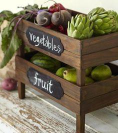 Espacio para almacenar las verduras