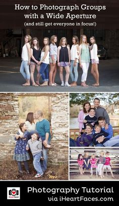 5 Tips for Photographing Groups with a Wide Aperture #photography #iheartfaces #tips #large #groups #family