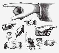 HANDS VINTAGE VECTOR
