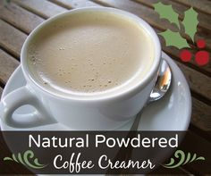 Try out this natural homemade powdered coffee creamer recipe! It's shelf stable and makes a great holiday gift for any coffee lover on your list.