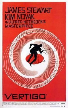 Saul Bass: Poster for Vertigo, dir. Alfred Hitchcock The Saul Bass Poster Archive Best Movie Posters, Classic Movie Posters, Classic Movies, Cinema Posters, Old Film Posters, Awesome Posters, Music Posters, Vertigo Poster, Vertigo Movie